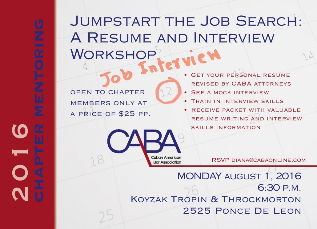 Student Chapter Member Exclusive Event Resume And Interview Workshop